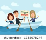 business team searching new... | Shutterstock .eps vector #1358078249