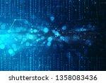 digital abstract technology... | Shutterstock . vector #1358083436