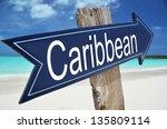caribbean arrow on the beach | Shutterstock . vector #135809114