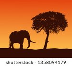 realistic illustration with... | Shutterstock .eps vector #1358094179