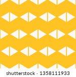 triangles seamless pattern.... | Shutterstock .eps vector #1358111933