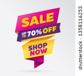 vector sale banner template... | Shutterstock .eps vector #1358116253