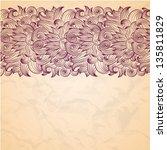 vector oriental flower paisley... | Shutterstock .eps vector #135811829