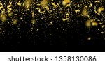 streamers and confetti. gold... | Shutterstock .eps vector #1358130086