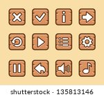 wooden buttons for game