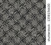 Monochrome Basket Weave Checke...