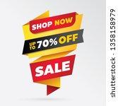 vector sale banner template... | Shutterstock .eps vector #1358158979