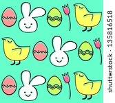 easter seamless pattern  raster ... | Shutterstock . vector #135816518