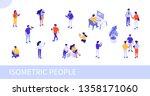 people at work concept design.... | Shutterstock .eps vector #1358171060
