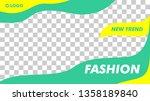 modern fashion beauty banner... | Shutterstock .eps vector #1358189840