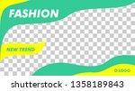 modern fashion beauty banner... | Shutterstock .eps vector #1358189843