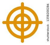 shotgun aim icon. flat... | Shutterstock .eps vector #1358200286