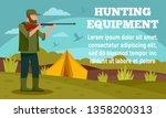 camp hunter equipment concept...   Shutterstock .eps vector #1358200313