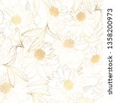 floral spring seamless pattern. ... | Shutterstock .eps vector #1358200973
