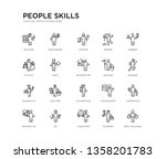 set of 20 line icons such as... | Shutterstock .eps vector #1358201783