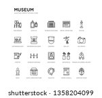 set of 20 line icons such as... | Shutterstock .eps vector #1358204099