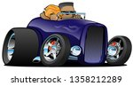 highboy hot rod purple roadster ...   Shutterstock .eps vector #1358212289