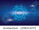 abstract digital background... | Shutterstock .eps vector #1358214473