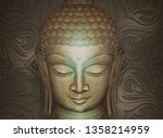 head of the lord buddha in... | Shutterstock . vector #1358214959