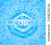 workforce realistic light blue... | Shutterstock .eps vector #1358226116