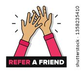 refer a friend poster with high ...