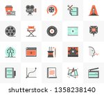 flat line icons set of video... | Shutterstock .eps vector #1358238140
