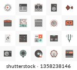 flat line icons set of sound... | Shutterstock .eps vector #1358238146