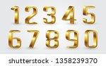 3d golden numbers | Shutterstock .eps vector #1358239370