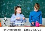 biology equipment. happy...   Shutterstock . vector #1358243723