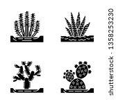 wild cacti in ground glyph... | Shutterstock .eps vector #1358253230