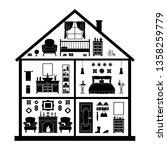 model cottage. vector... | Shutterstock .eps vector #1358259779