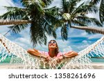happy smile beautiful girl in a ...   Shutterstock . vector #1358261696