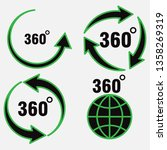 set of icons 360 degree... | Shutterstock .eps vector #1358269319