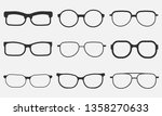 glasses icon set isolated on... | Shutterstock .eps vector #1358270633