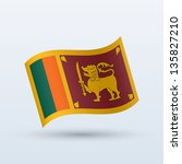 sri lanka flag waving form on... | Shutterstock .eps vector #135827210