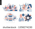 technology 3 set   modern flat... | Shutterstock .eps vector #1358274230