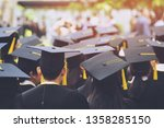 group of graduates during... | Shutterstock . vector #1358285150
