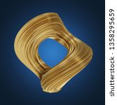 abstract smooth twisted 3d... | Shutterstock . vector #1358295659