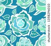 vector seamless floral pattern... | Shutterstock .eps vector #1358296010