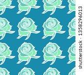vector seamless floral pattern... | Shutterstock .eps vector #1358296013