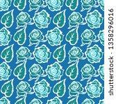 vector seamless floral pattern... | Shutterstock .eps vector #1358296016