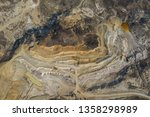 aerial view of an open mine pit.... | Shutterstock . vector #1358298989