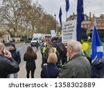 london  england. 3rd april 2019.... | Shutterstock . vector #1358302889