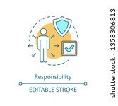 responsibility concept icon.... | Shutterstock .eps vector #1358306813
