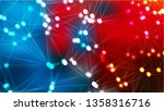 abstract red and blue connected ...   Shutterstock . vector #1358316716