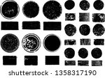 big collection of grunge post... | Shutterstock .eps vector #1358317190