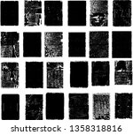 grunge post stamps collection ... | Shutterstock .eps vector #1358318816