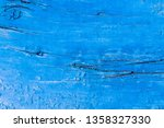 texture of a blue old board or... | Shutterstock . vector #1358327330