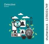 detective services vector flat...   Shutterstock .eps vector #1358331749