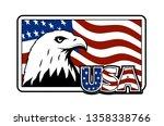 bald eagle symbol of north...   Shutterstock . vector #1358338766